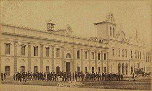 ESTUDANTES DA ACADEMIA DO LARGO DE SÃO FRANCISCO - 1862 Detalhe de foto do Militão Augusto de Azevedo